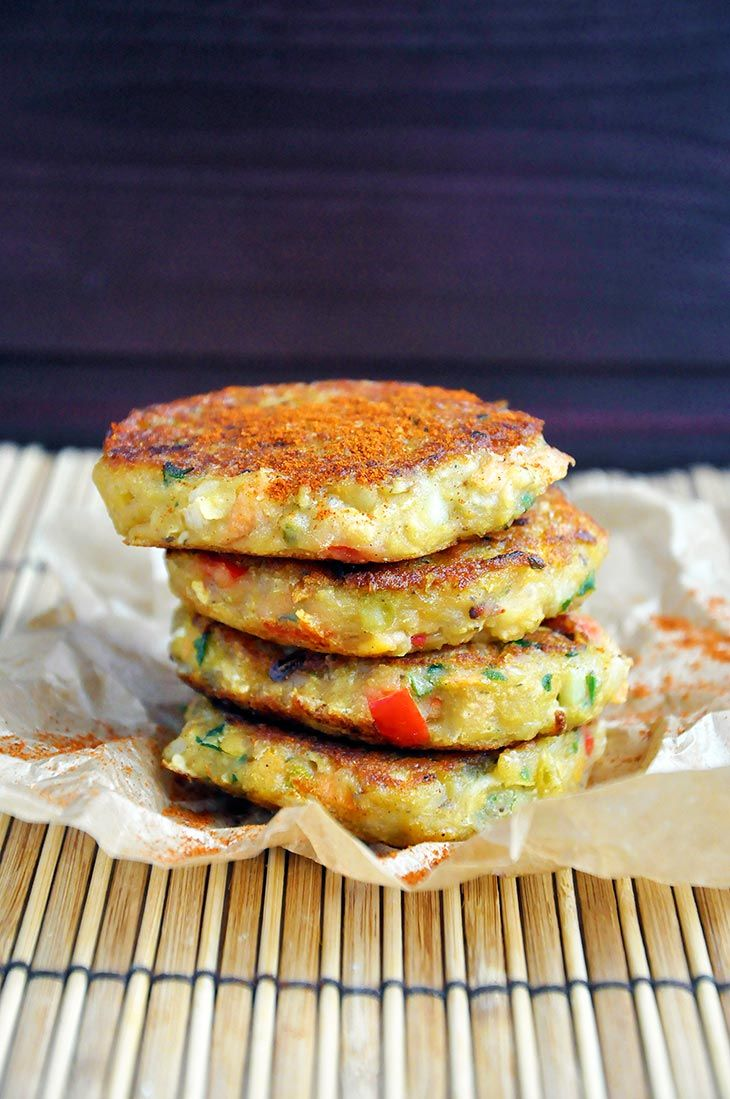 Vegan Lentil Cakes: saute veggies first + hickory smoke + liquid aminos + siracha + onion powder