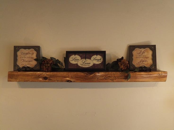 796 54quot X 5quot X 35quot Reclaimed Floating Wood Shelf