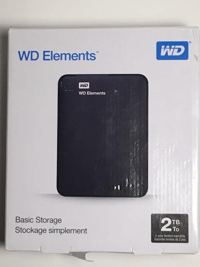 Wd Elements 2tb External Wdbu6y0020bbk Nesn Western Digital Portabl 718037855363 Westerndigital Digital Elements Digital Ebay