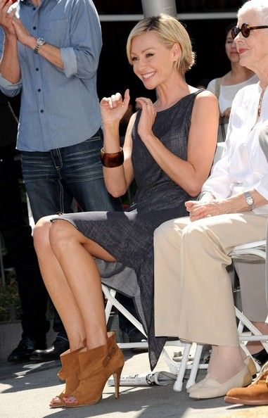 Portia de Rossi Photos - Ellen Degeneres on the Walk of Fame - Zimbio