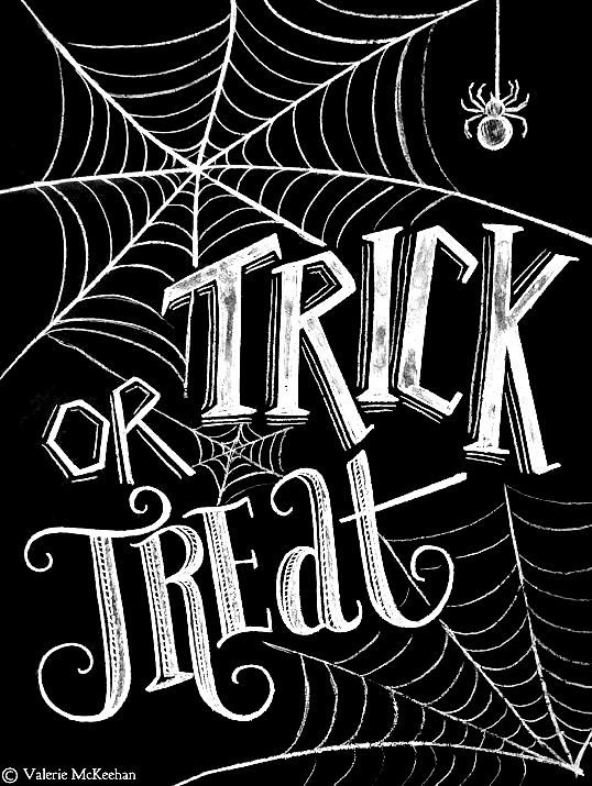 Chalkboard art quotes ToniKami ⊱CհαƖҜ ℒЇℕ℮⊰ Halloween Trick or treat Etsy