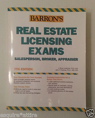 How to Prepare for the Real Estate Licensing Exams : Salesperson, Broker,... visit our ebay store at  http://stores.ebay.com/esquirestore