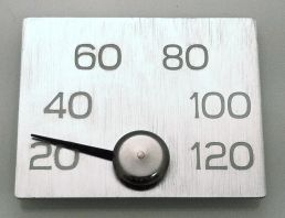 Elegant Thermometer for sauna, by Huone1
