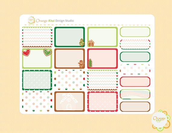 Gingerbread Weekly Kit Half Box Planner Stickers Erin Condren