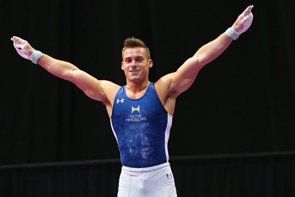 Sam Mikulak Photos Photos - Sam Mikulak reacts after competing on the still rings during the 2016 Men's P&G Gymnastics Championships at the XL Center on June 5, 2016 in Hartford, Connecticut. - 2016 Secret U.S. Classic and Men's P&G Gymnastics Championships
