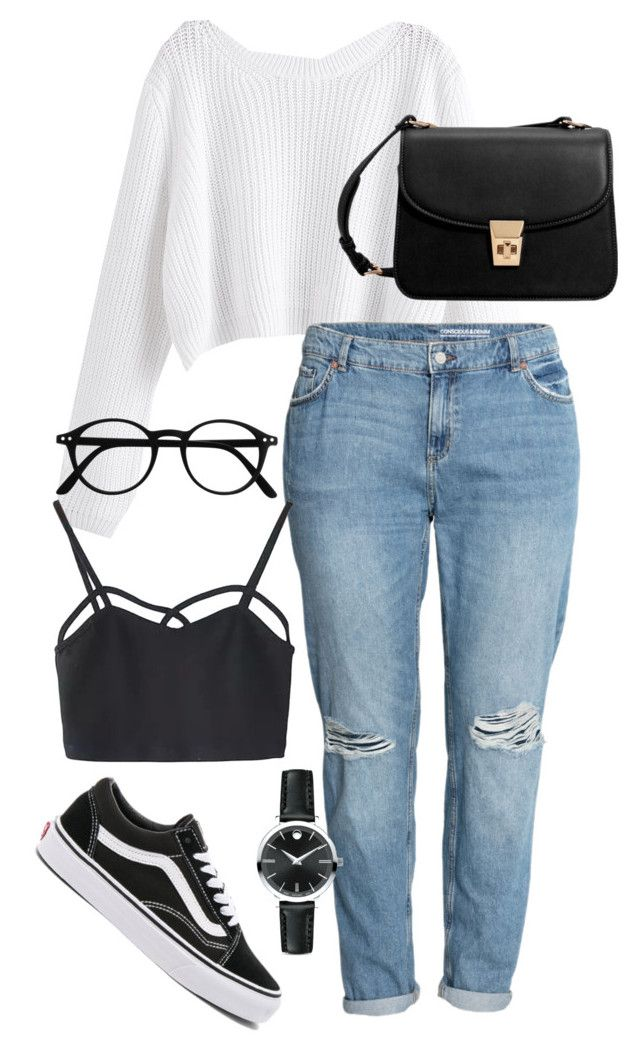 """""""#217"""" by mintgreenb on Polyvore featuring H&M, Vans, WithChic, MANGO and Movado"""