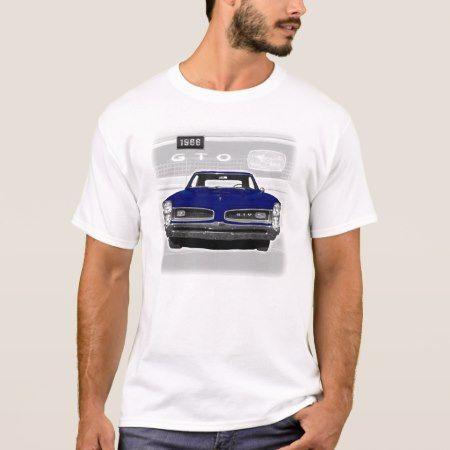 1966 Pontiac GTO Dark Blue T-Shirt - click to get yours right now!