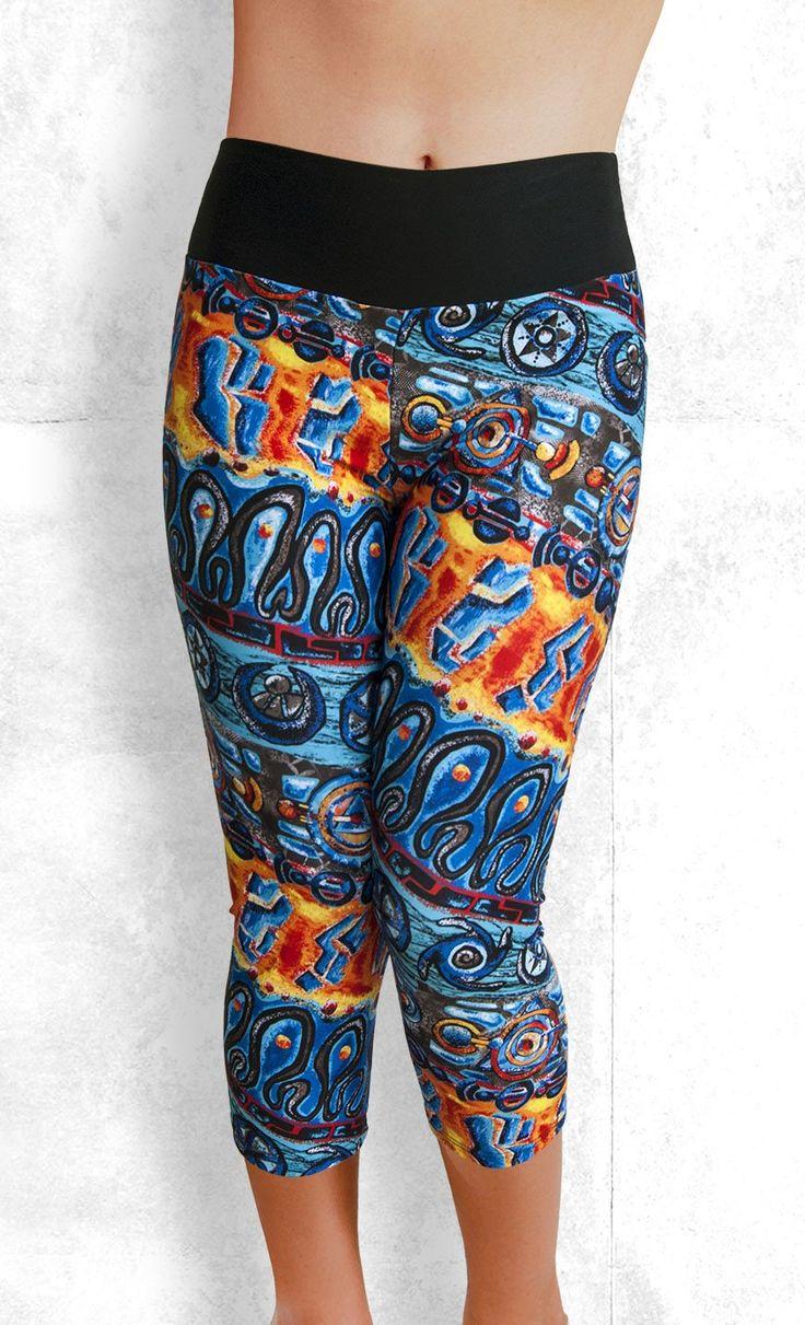 Capri Leggings - Tribal Dance - Funtastic Activewear