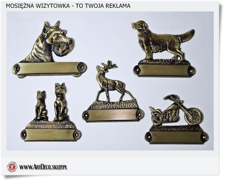 Mosiężne wizytówki z wygrawerowaną nazwą firmy polskie rzemiosło