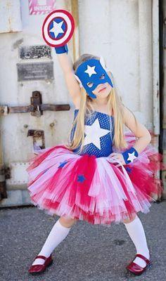 fantasia capitao america menina
