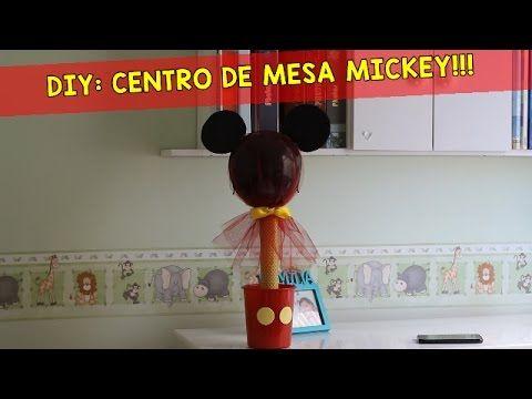 PREPARATIVOS FESTA DO MICKEY: ENFEITE DE MESA / CENTRO DE MESA