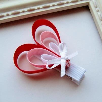 valentine ribbon hair bows - Google Search