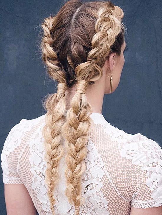 Styling dirty hair? Your new go-to hairstyle should be messy braids.