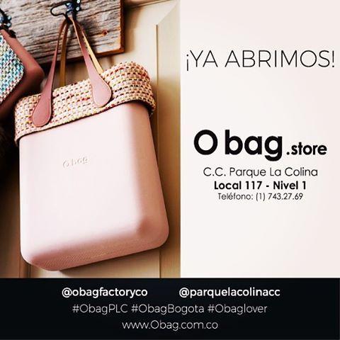 Estamos súper felices de anunciar que ya abrimos nuestra tienda en @parquelacolinacc   Los esperamos!!!! #ObagPLC #obagstorebogota #obaglover @obagfactoryco  www.Obag.com.co