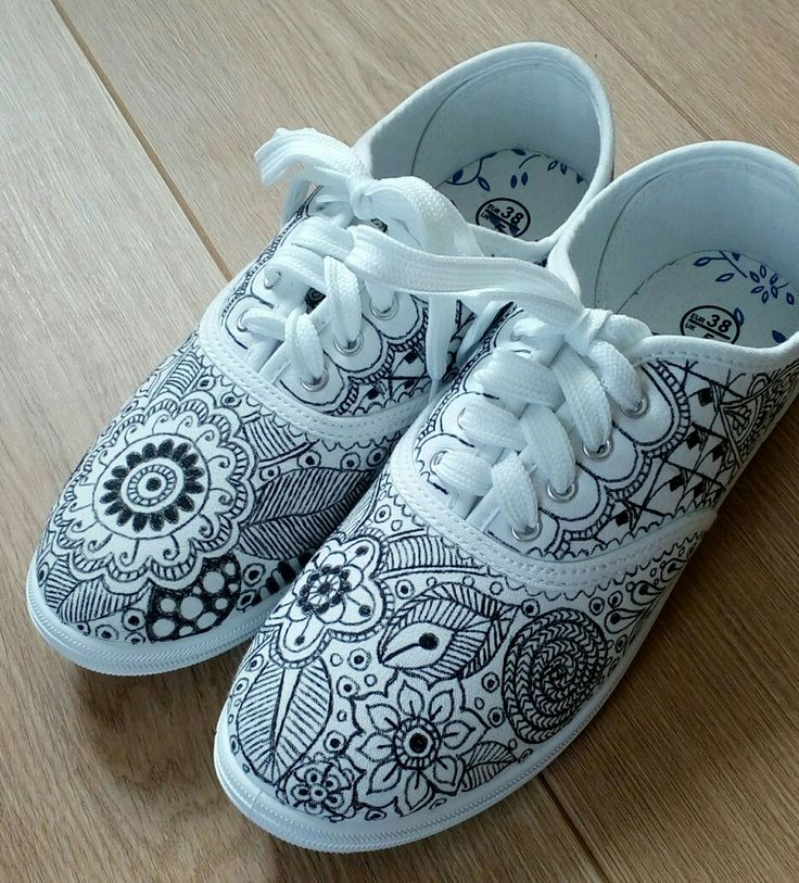 Zentangle shoes