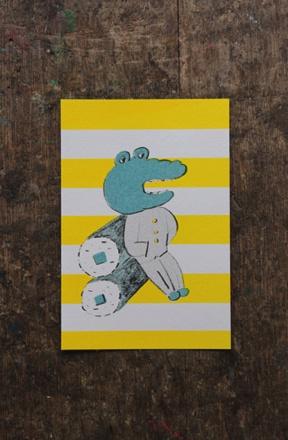 Postcard by Nishiwaki Tadashi.