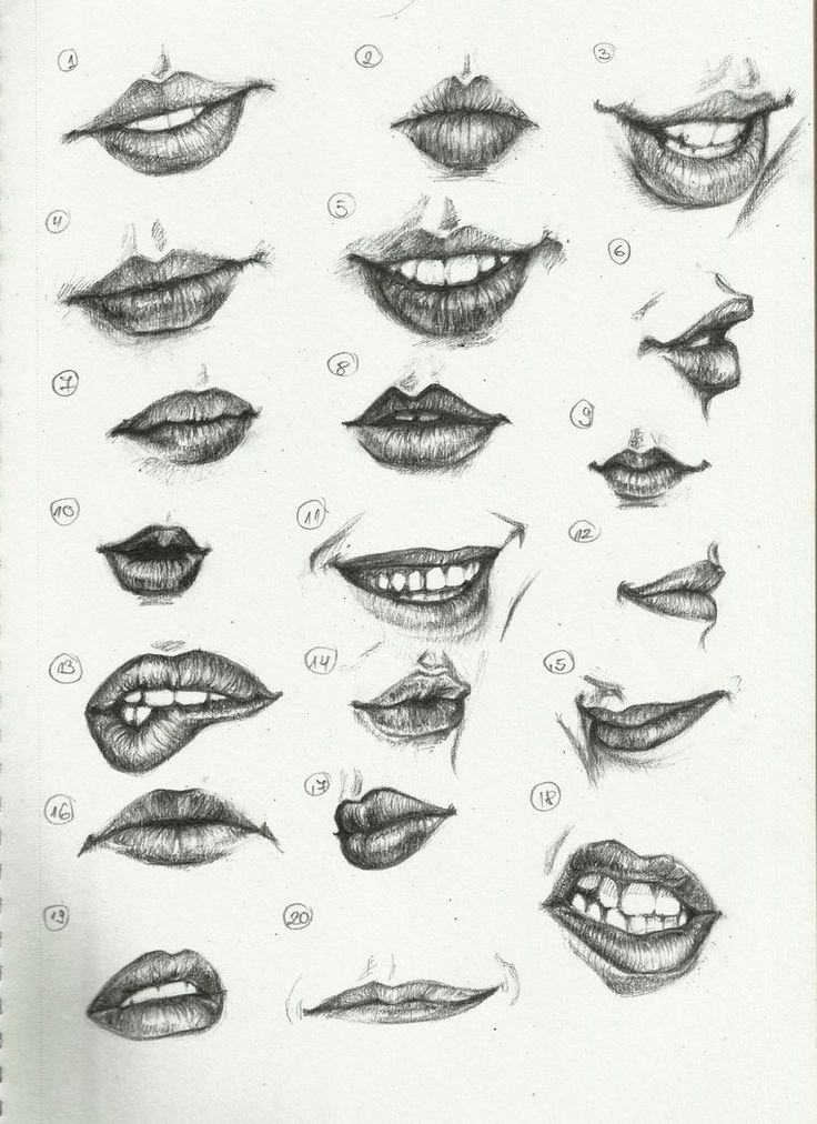 Different kinds of woman's lips to draw..inspiration