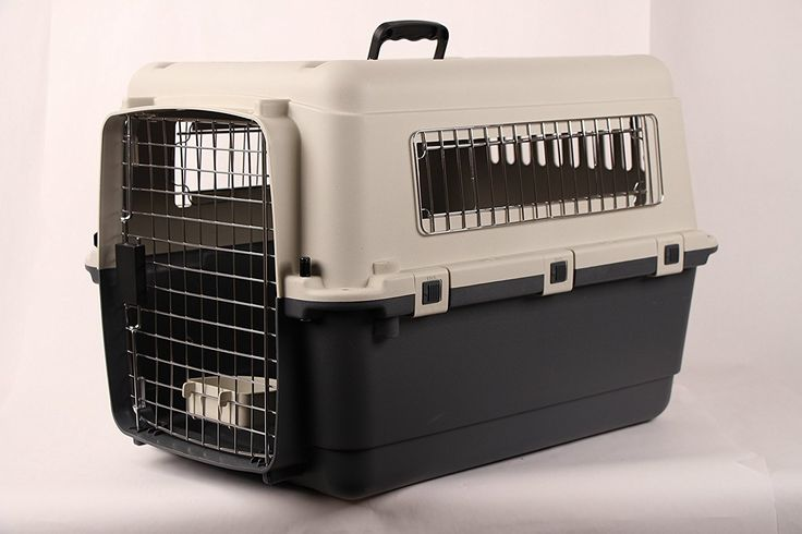 JunkieDog 27' Airline Approved Plastic Dog / Cat Pet Kennel Carrier or Air Travel with Chrome Door and Free Cup Foldable Dog Travel Crate ** Insider's special review you can't miss. Read more  : Dog carrier