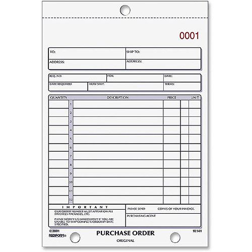 Purchase Order Book Bottom Punch   X   TwoPart