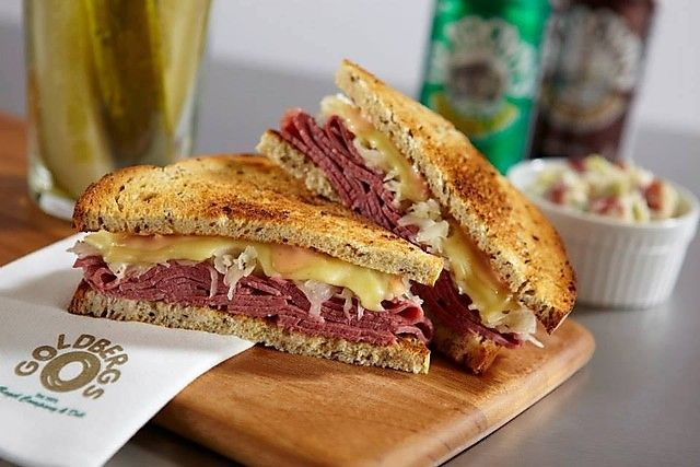 Reuben Sandwich at Goldberg's Bagel Company  Deli (Atlanta, GA). #reuben #sandwich