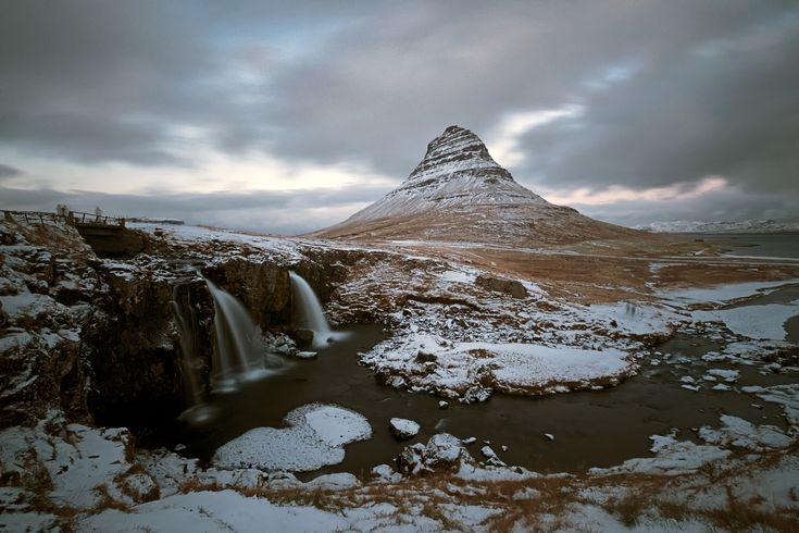 https://flic.kr/p/2192Grn | Kirkjufellfoss | Waterfall and mountain, north coast of Snaesfellsnes peninsula.