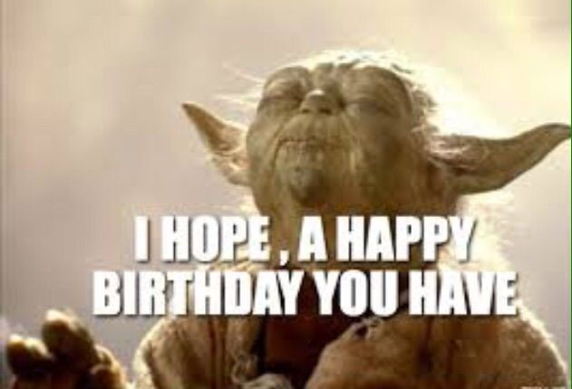Yoda happy birthday