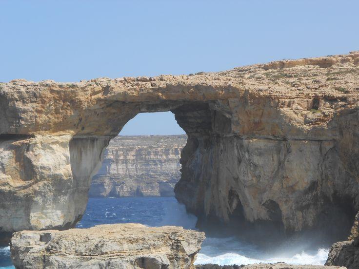 Het blauwe venster, Malta.