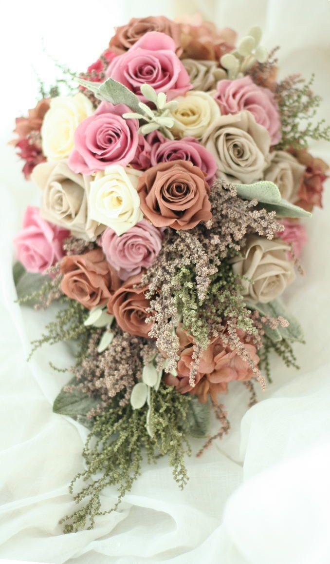 ブーケ プリザーブドのアームブーケ 秋色 : 一会 ウエディングの花