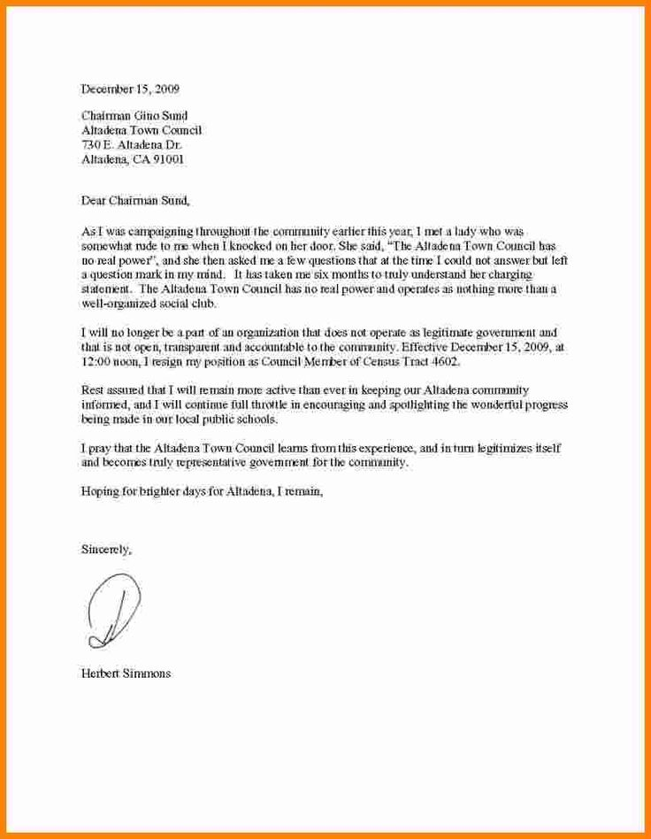 Resign Letter Sample Word Format Template Examples – Resign Letter Sample Word Format