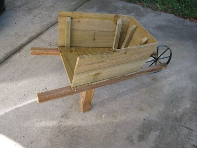 The Epitome of Us: How to Make A Rustic Fall Wooden Wheelbarrow