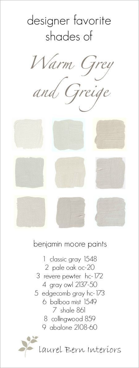 Nine Fabulous Benjamin Moore Warm Gray Paint Colors - laurel home