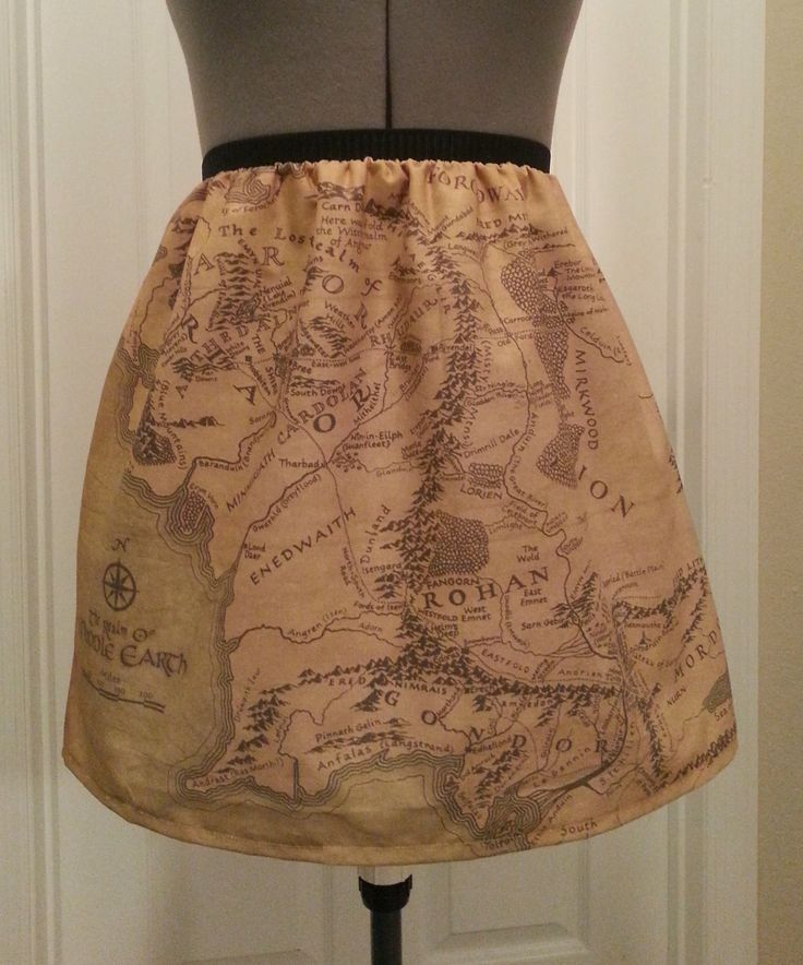 Map For Lord Of The Rings%0A Lord of the Rings inspired skirt  map of Middle Earth  made to order