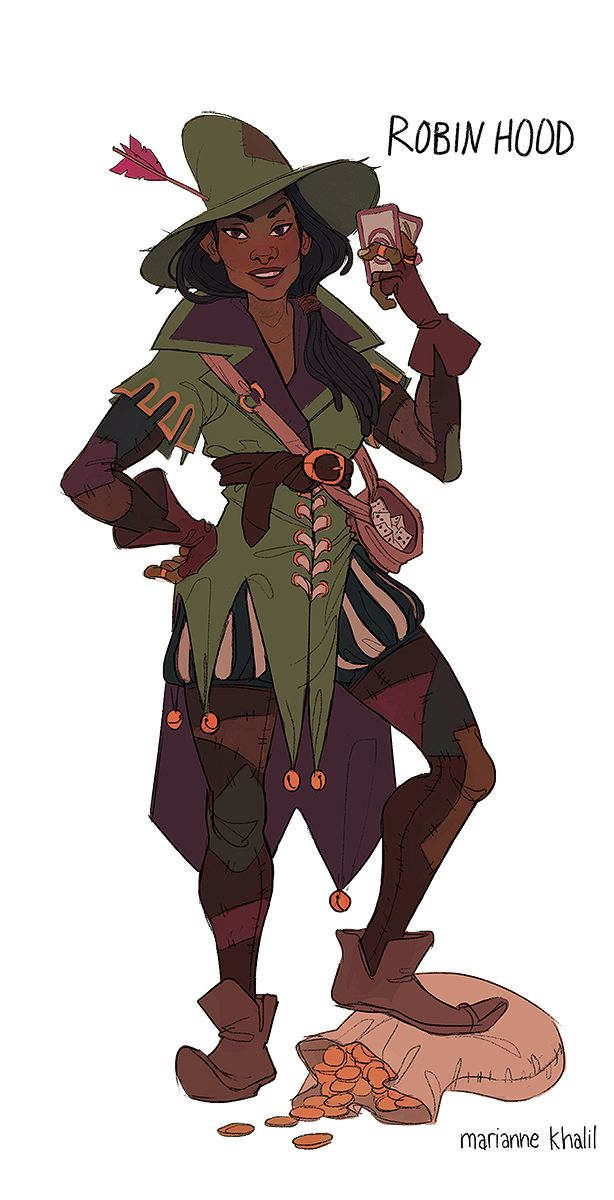 rakugaki - mariannewiththesteadyhands: Robin Hood and her...