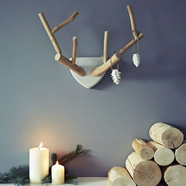 trophée de chasse en bois, imitation de bois de cerf - DIY antler