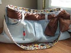 Resultado de imagen para carteras tejidas con jean