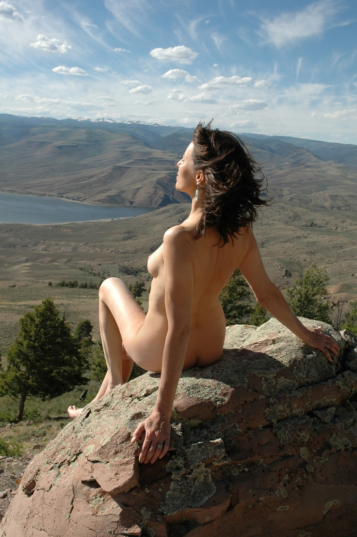 Women outdoor skinny dipping
