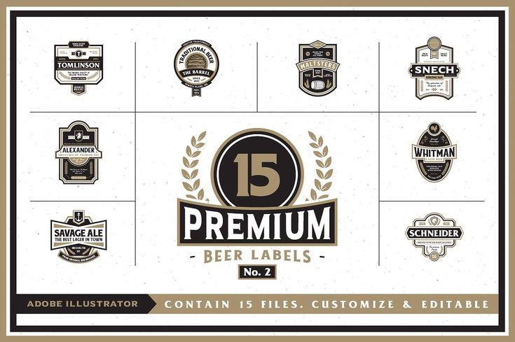 Premium Beer Labels No. 2 by Rich Graphic on @creativemarket
