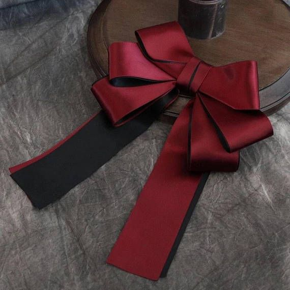 Womens bow tie Brooch Black luxury bow tie gift for woman