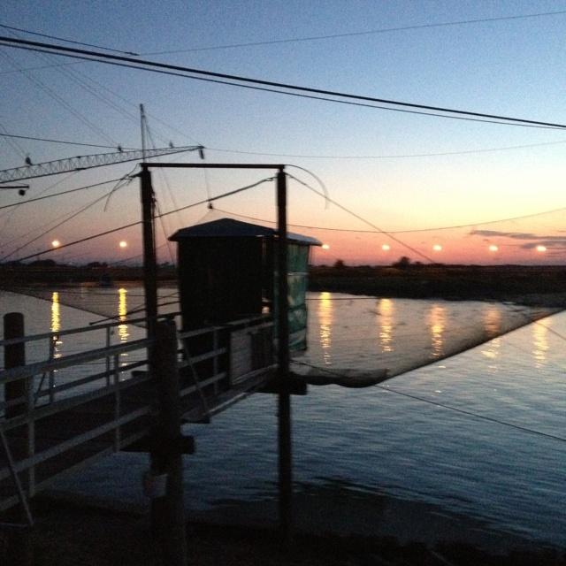 Il tramonto a Cervia.