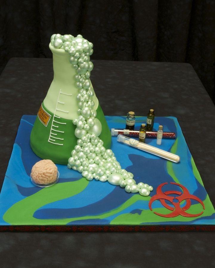 Science Beaker Birthday Cakes