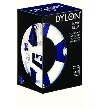 Dylon-(pesukone)tekstiiliväri x2, värisävy navy blue. Dylonia löytyy esimerkiksi isoista ruokakaupoista ja harrastusliikkeistä. N. 7-11 €.
