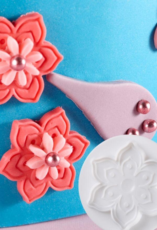 Dough - sugarpaste cutter Flower 3D set 3pcs.