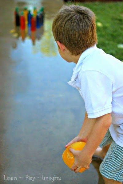 DIY Ice bowling game for summer