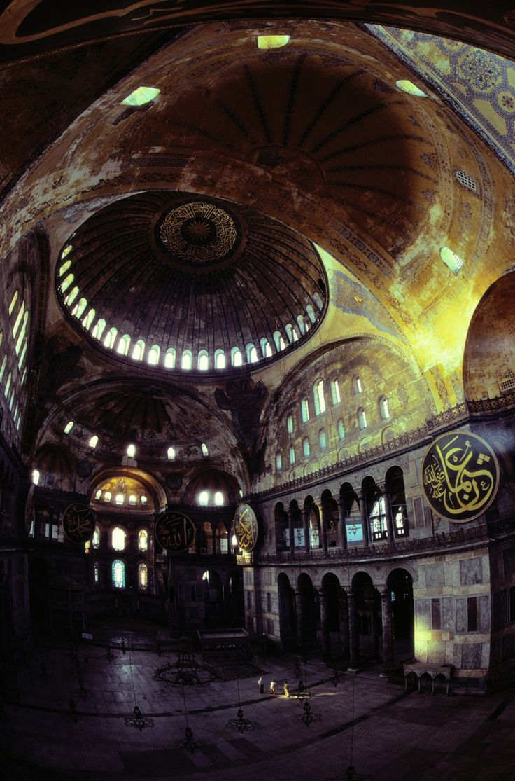 View of the interior of the Hagia Sophia in Istanbul, Turkey, December 1983.Photograph by James L. Stanfield, National Geographic