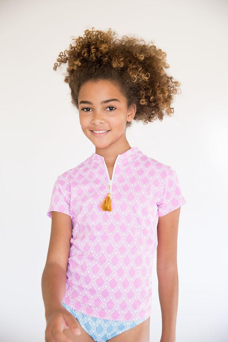 Kasana Sea - Girls Pink White Aishwarya Swim Shirt Rashvest - Stella Cove , $59.00 (http://www.kasanasea.com.au/girls-pink-white-aishwarya-swim-shirt-rashvest-stella-cove/)
