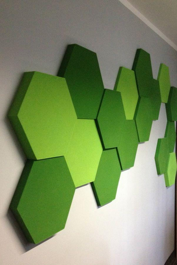 Sala konferencyjna w Warszawie. Kolekcja Fluffo HEXA. Panele ścienne 3D Fluffo, Fabryka Miękkich Ścian. Projekt by: www.tryc.net.pl