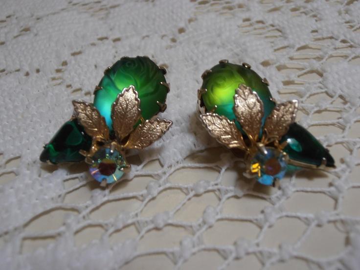 Emerald Art Glass 126 best vintage aurora borealis images on pinterest | aurora