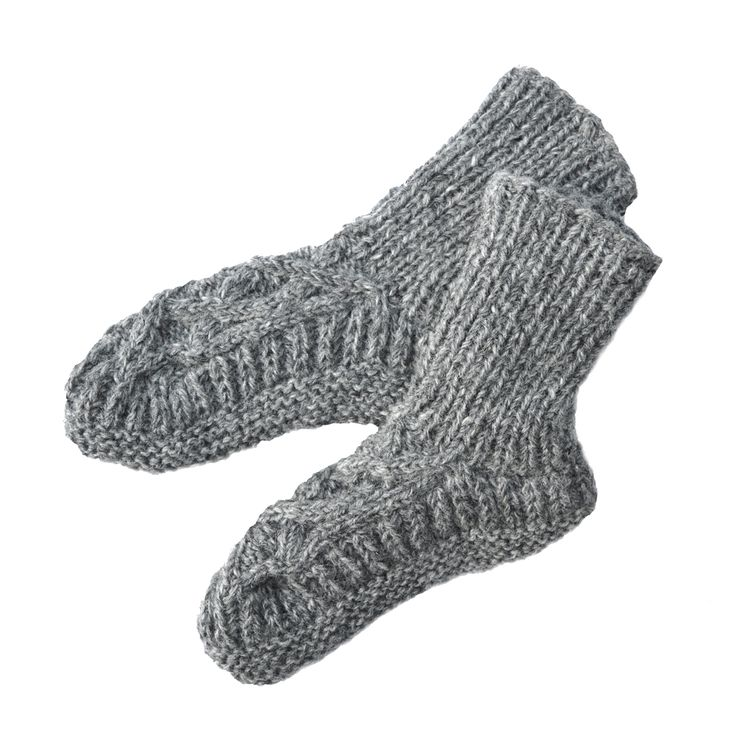 Hand Knitted in Nepal, fairtrade wool slipper/socks lined with soft warm fleece.