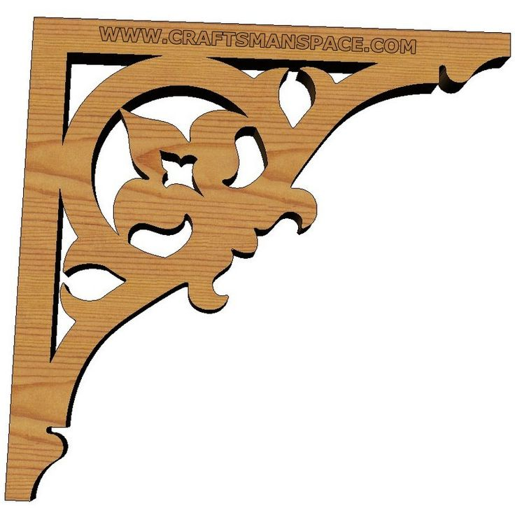 Scrollsaw shelf brackets | Esquineras | Pinterest ...