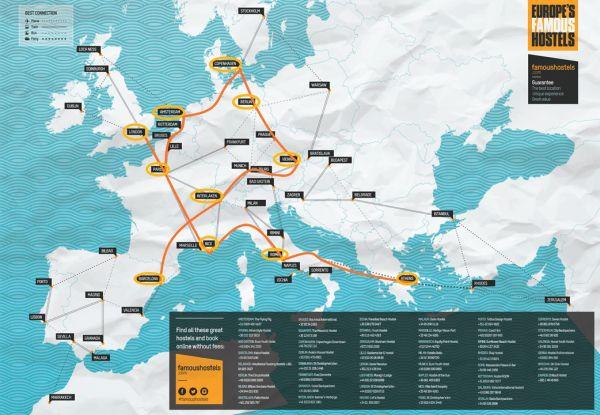 Prepare an Interrail trip - map